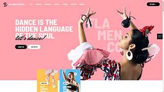 طراحی وب سایت آموزش رقص 2 وبمستران ایران