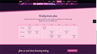 طراحی وب سایت آموزش رقص 5 وبمستران ایران