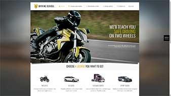 طراحی وب سایت آموزش رانندگی وبمستران ایران