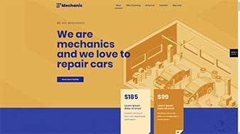 طراحی وب سایت مکانیک 4 وبمستران ایران